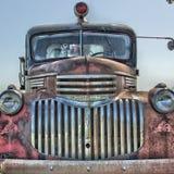 Avant d'un camion de pompiers de Cheverolet de vintage photo stock