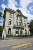 Avant d'un manoir médiéval caractéristique, Berne, Suisse Images stock