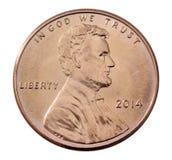 Avant d'un penny 2014 Photo stock