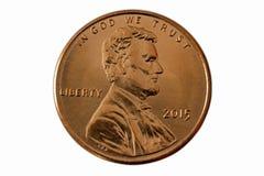 Avant d'un penny 2015 Photographie stock