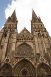 Avant de cathédrale Notre Dame de Bayeux, France Photographie stock