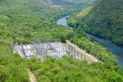 Avant de générateur de l'électricité de barrage de Sri Nakharin Photos libres de droits