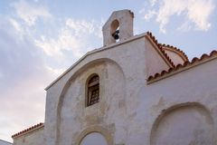 Avant de l'église grecque en Italie du sud Photographie stock libre de droits