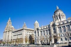 Avant de l'eau de Liverpool Photos libres de droits