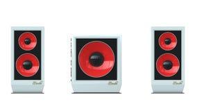 Avant de la cintreuse Mx-100 de haut-parleurs aucun gril Photographie stock libre de droits