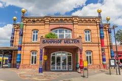 Avant de la station de train d'Uelzen photo libre de droits