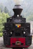 Avant de locomotive de train de vapeur photo stock