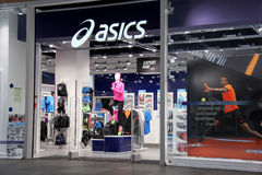 Avant de magasin d'Asics Photographie stock libre de droits