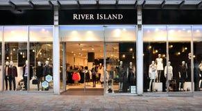 Avant de magasin de détail d'île de rivière Photo libre de droits