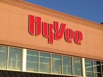 Avant de magasin de supermarché de Hyvee Image libre de droits