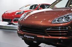 Avant de Porsche Cayenne SUV Photographie stock