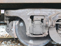 Avant de roue de train Photo stock