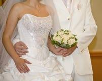 Avant de signer un certificat de mariage Image libre de droits