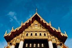 Avant de temple de Mable avec le ciel Photos libres de droits