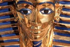Avant de visage de Tutankamon Photographie stock libre de droits