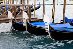 Avant des gondoles, Venise, Italie Photo libre de droits