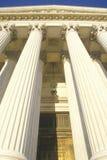Avant du bâtiment de court suprême des Etats-Unis, Washington, D C Photo stock