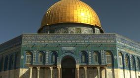 Avant du dôme de la mosquée de roche à Jérusalem clips vidéos