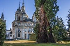 Avant du palais de Granja de La dans le format horizontal Ségovie Espagne Images libres de droits
