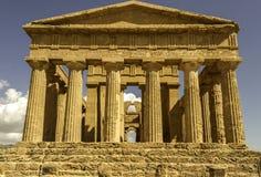 Avant du temple de Concordia image libre de droits