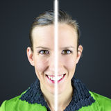 Avant et après photographie stock