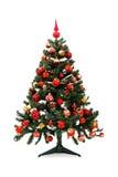 Avant et après - l'arbre de Noël Image stock