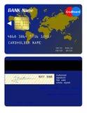 Avant et dos de carte de crédit illustration libre de droits
