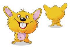 Avant et dos de hamster Image stock