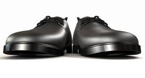 Avant extrême noir formel de chaussures en cuir Image stock