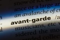 Avant-garde. Word in a dictionary.  concept royalty free stock photo
