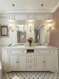 Avant-garde de conception de salle de bains Images stock