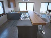 Avant-garde kitchen island bar Stock Image