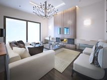 Avant-garde living room trend Stock Photography