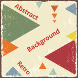 Avant-Garde retro triangle background. Vector Royalty Free Stock Photography
