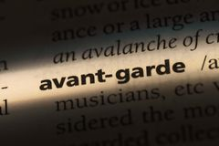 Avant-garde. Word in a dictionary.  concept stock images