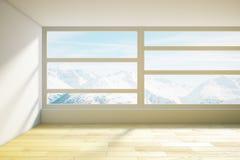 Avant intérieur en bois de Mountain View Image stock