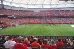 AVANT JÉSUS CHRIST stade avant le jeu de football Images stock