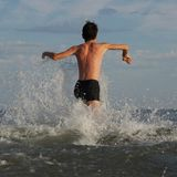 Avant la natation Photo libre de droits