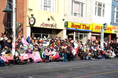 Avant le défilé du père noël à Toronto Photos stock