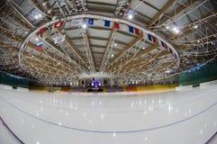 Avant le jeu. La glace folâtre le palais Krylatskoye Photographie stock libre de droits