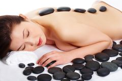 Avant massage photographie stock libre de droits
