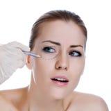 Avant operetion de chirurgie plastique. photographie stock libre de droits
