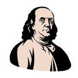 Avant plat de style d'illustration de vecteur de Franklin de jour de président illustration stock