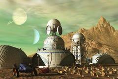 Avant-poste de la science-fiction Photos libres de droits