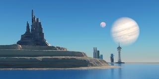 Avant-poste sur Ganymede Photographie stock libre de droits