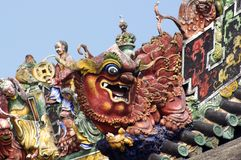 avant-toits chinois image stock