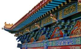 Avant-toits traditionnels chinois Images libres de droits