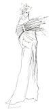 Avantgarde Fashion Sketch Stock Image