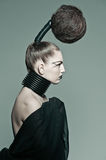 Avantgarde hair Royalty Free Stock Photography