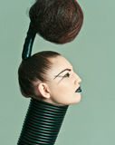 Avantgarde hair Stock Photography